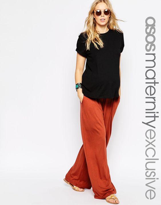 Image 1 of ASOS Maternity Wide Leg Pant