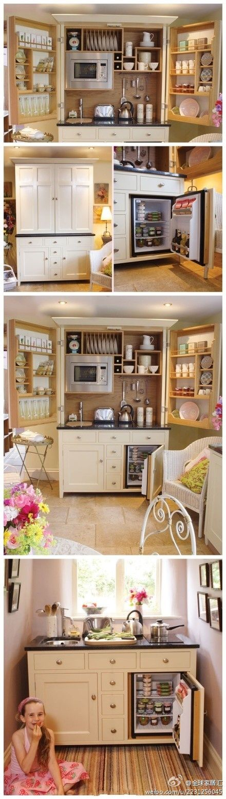 Perfect little kitchen...for a guest house or better yet an in-laws sweet, or a basement apartment. I want to buy this but don't know where.
