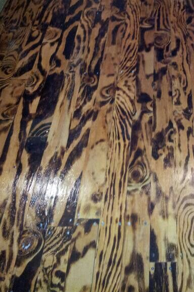 Burnt Plywood Cut Different Lengths For Unique Beautiful Hardwood Flooring
