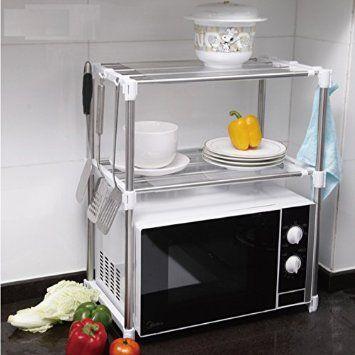 Total Vision/TheBigShip ® four micro-ondes, étagère pour économiser de l'espace de rangement de cuisine