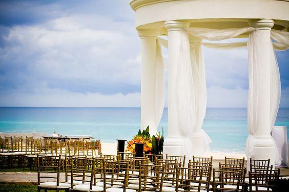 Beautiful setup at the Wedding Gazebo #DreamsLosCabos