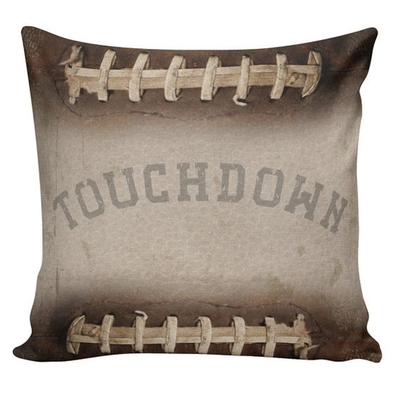 Football Pillow Cover  100% cotton front cotton or by Stub24