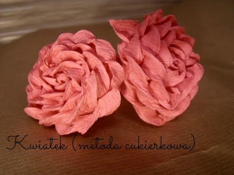 Jak Zrobic Roze Z Bibuly Marszczonej How To Make A Tissue Paper Rose Youtube Diy And Crafts Crafts Handmade