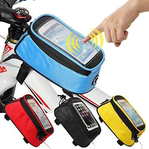 JOY COLORFUL Bicycle Bags Bicycle Front Tube Frame Cycling Packages 5.5 inches