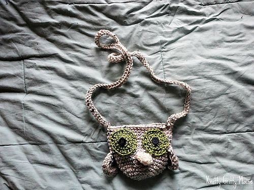 """Amigurumi The Owl Purse Free PDF Pattern ( Click """"Download"""" or """"free Ravelry download"""")"""