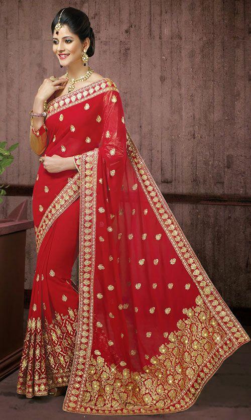 Superb Red Colour Bridal Saree Dn 47869 Love For All