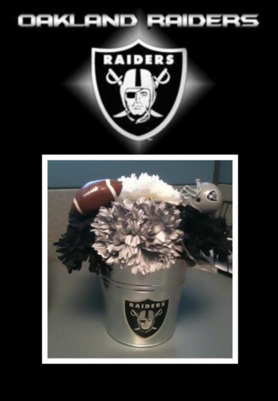 Oakland Raiders Flower Pen Arrangement Www