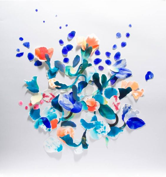 Revisiting the Swiss Art of Paper cut, each form is painted, cut and arranged by hand.: