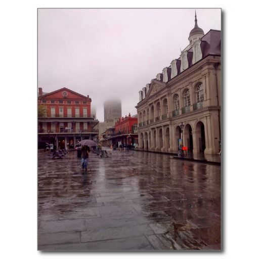Cabildo In Rain, New Orleans