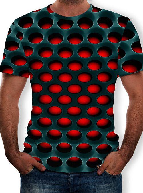 Geometry 3D T Shirt Men Tshirt Summer T-Shirt Tops Short Sleeve Tee Streetwear