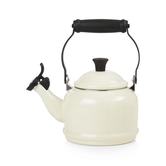 Le Creuset ® 1.25-Qt. Demi Cream Tea Kettle | Crate and Barrel