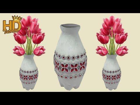 Diy Vas Bunga Dari Botol Bekas Easy Vase Flower Craft Ideas