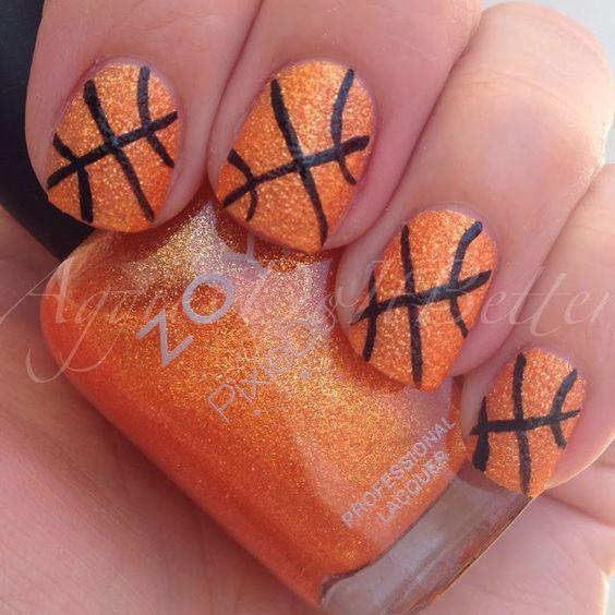 Textured basketball nails