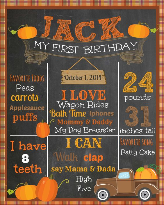 Fall First Birthday Chalkboard  Pumpkin Patch by themilkandcreamco, $20.00