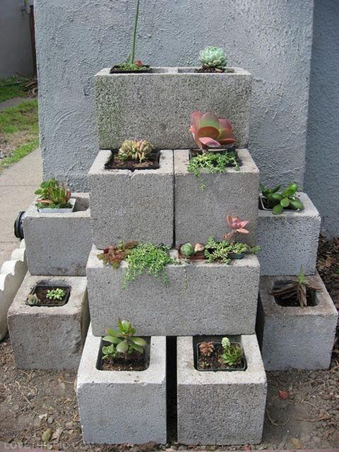 Do it yourself garden design ideas do it yourself garden wall art do it yourself garden design ideas concrete blocks gardens and herbs on solutioingenieria Images