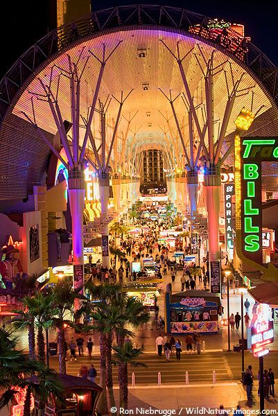 Downtown Las Vegas Also Known As U0027Old Vegasu0027 Has An Animated Lighted Atrium  That Is A Must See. Stock Photos Of The Fremont Street ...