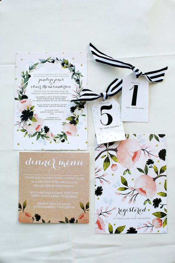 garden wedding invitations, photo by Amber Lynn Photography http://ruffledblog.com/love-grows-wedding-inspiration #stationery #weddinginvitations: