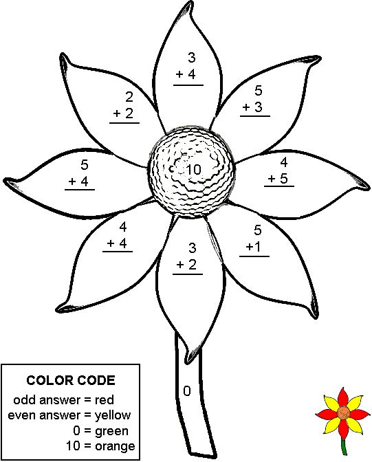 Color By Number Addition Worksheets 2 homework – Coloring Addition Worksheets