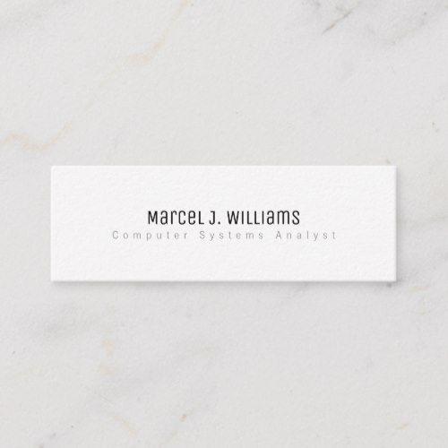 Minimalist Modern Professional Simple Plain White Mini Business Card Zazzle Com Mini Business Card Business Cards Minimal Business Card Template Design