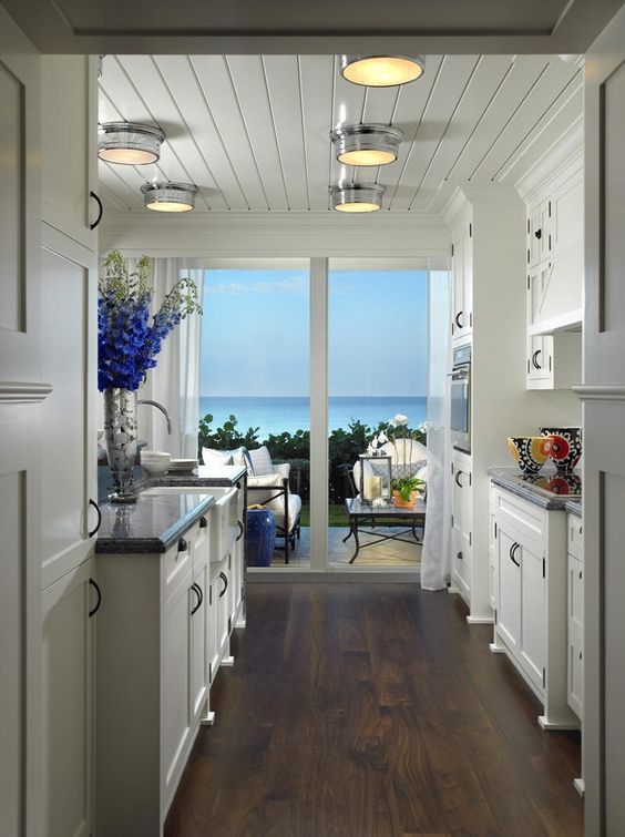 Coastal kitchen nice floor color cabinet color contract for Kitchen ceiling colors