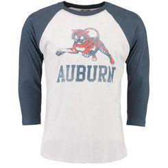 Men's White/Navy Auburn Tigers Arch Logo Vault Long Sleeve T-Shirt