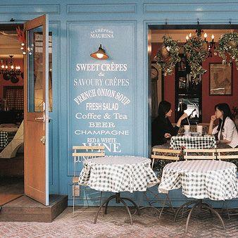European street cafe-menu board on the outside of cafe!