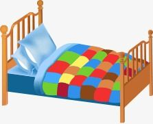 Muebles Camas En Dibujos Animados Muebles Cartoon Cama Individual Png Y Vector Muebles Cama Camas Muebles Dormitorio