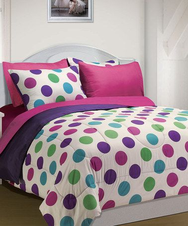 take a look at this pink polka dot back to school comforter set by ma maison on zulily today. Black Bedroom Furniture Sets. Home Design Ideas