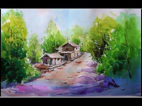 Watercolor Landscape Painting 수채화 풍경그리기 水彩画 Acuarela