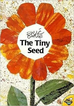 This picture book admirably conveys the miracle of a seed. Flower pods burst and dispatch their seeds on the wind; the air-borne seeds are subject to myriad disasters; and the ones that make it through the perils of the seasons to become mature flowering plants are still susceptible to being picked, trod upon and otherwise damaged.
