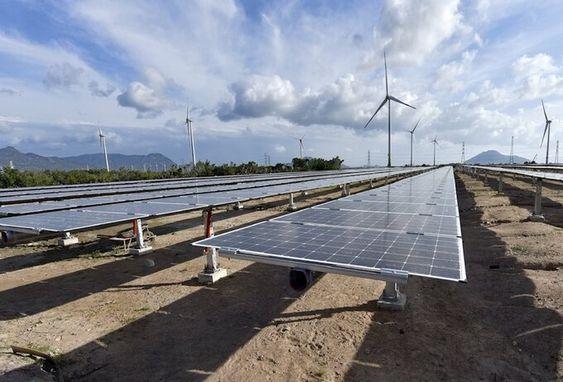 Một dự án điện mặt trời tại Bình Thuận