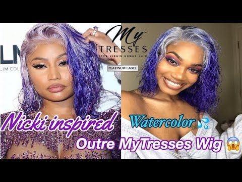 How To Nicki Minaj Diy Wet Look Watercolor Purple Wig Hair