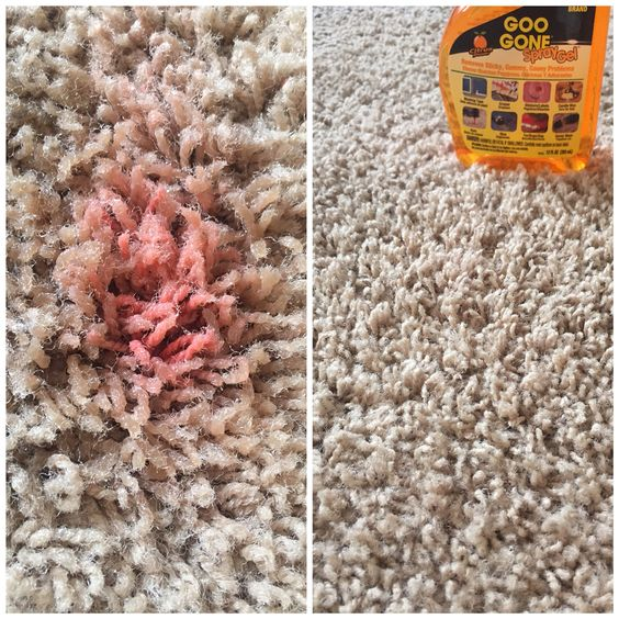 Use Goo Gone To Remove Nail Polish From Your Carpet Spray