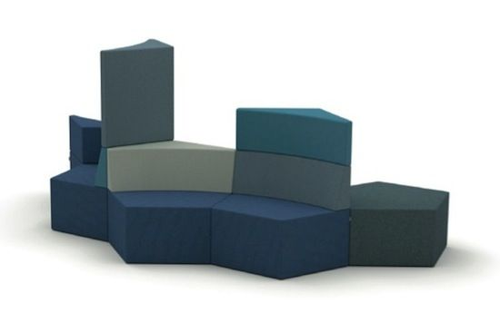 Skyline Morten Nikolajsen HOWE design colorful contract commercial modular lounge seating