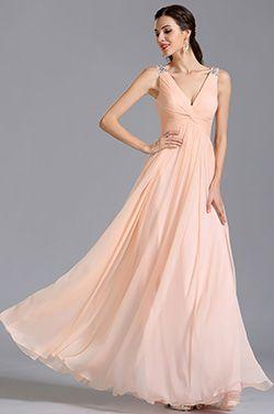 eDressit Vestido de Noche Formal Corte V Color Rosa(00155101)