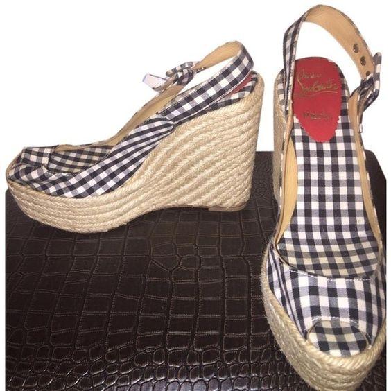 christian louboutin shoes for men replica - christian louboutin gingham peep-toe pumps, louboutin rollerboy ...