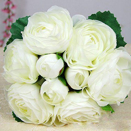 ZGY Ein Bündel gefälschte Rose Rosenblüten künstlichen Blumenstrauß Haus Garten DIY Hochzeit Party Deko (Weiß) ZGY http://www.amazon.de/dp/B00NN3T05C/ref=cm_sw_r_pi_dp_MSNRub0XXG9HK
