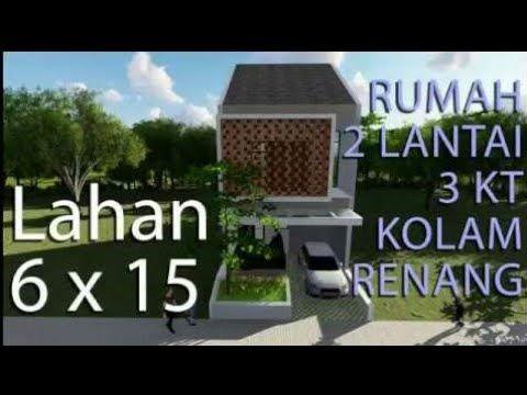 Desain Rumah Minimalis The Sims 3  rumah di lahan 6x15 dengan kolam renang desain rumah