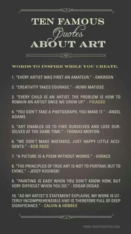 Art Quotes Quotes Art Artist Quotes Art Quotes Creativity