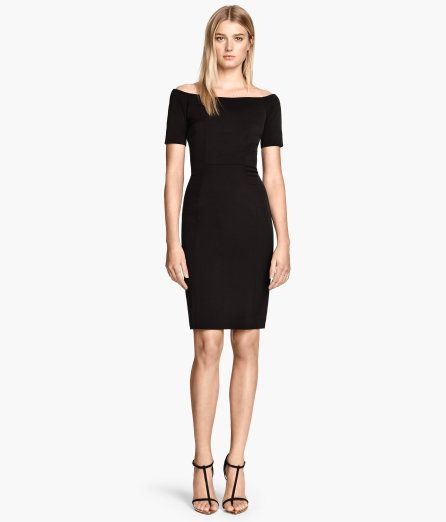 H&ampM off the shoulder black dress  What&39s Your Damage  Heather ...