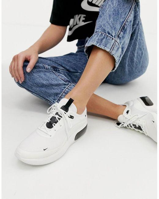 calzado nueva especiales zapatos para baratas Nike White Air Max Dia Trainers in 2020 | White nikes, Black ...
