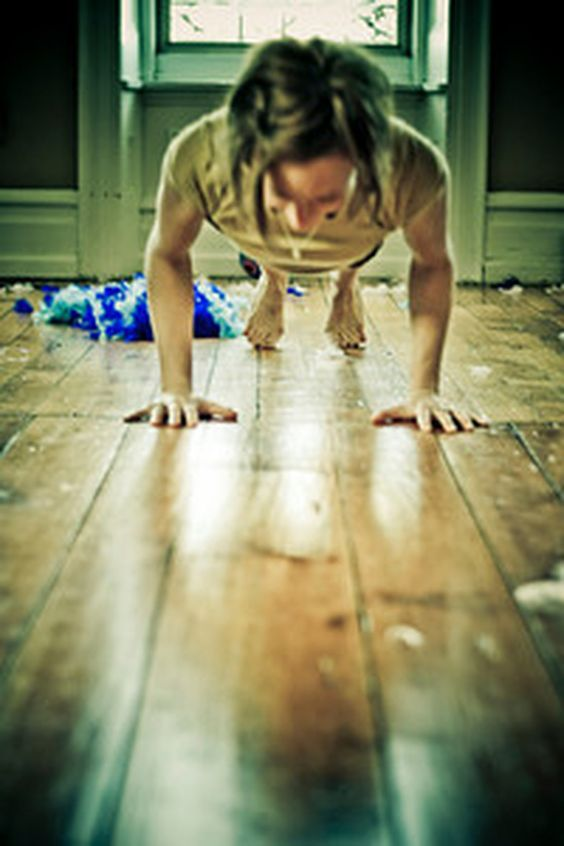 Kathryn, Chatarunga Dandasana, from our Pose Contest!
