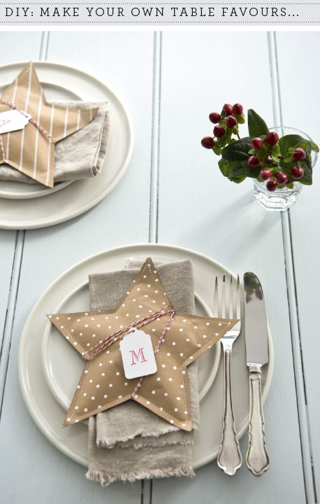 DIY: Christmas table favour