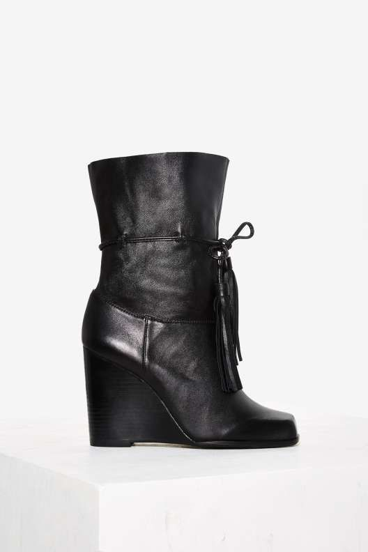 Jeffrey Campbell Larusso Leather Wedge Boot - Sale: Shoes: 7.5 ...