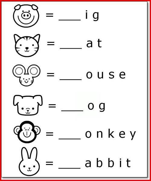 Printable Animal Name Activities For 5 Year Olds Preschool