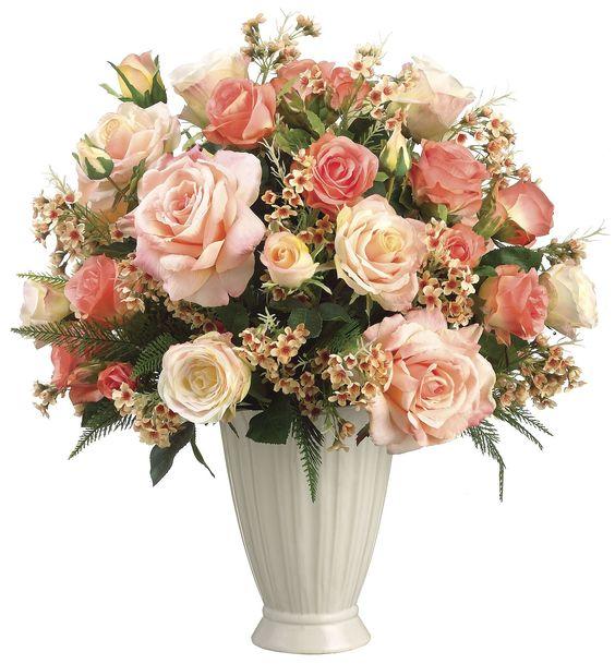 Rose and Waxflower Arrangement: