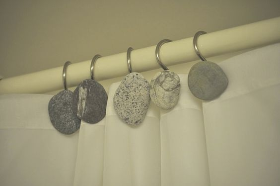 Curtains Ideas best shower curtain hooks : best shower curtain hooks | Stone Shower Curtain Hooks ...