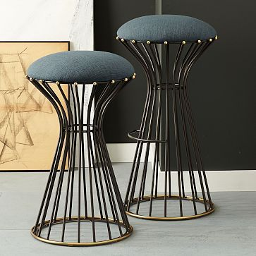Adelphi Bar + Counter Stool from West Elm: