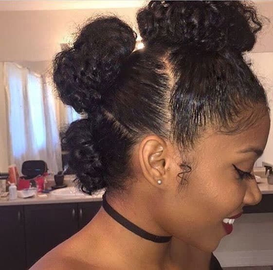 37 Gorgeous Natural Hairstyles For Black Women Quick Cute Easy Natural Hair Styles Easy Short Natural Hair Styles Natural Hair Styles For Black Women
