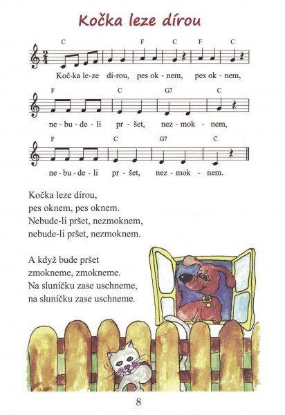 Zpívánky malovánky - 51 nejznámějších lidových písniček pro děti - zpěv / akordy
